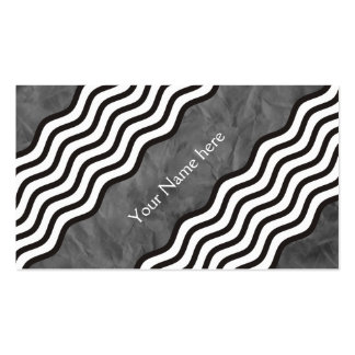 Pretty Waves black white + your backgr. & text Business Card