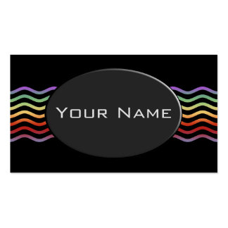 Pretty Waves colored + your backgr., text & ideas Business Card