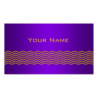 Pretty Waves gold + your backgr., text & ideas Business Card