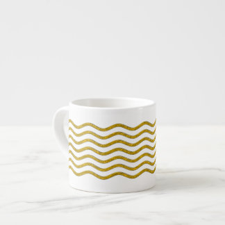 Pretty Waves gold + your backgr., text & ideas Espresso Cup