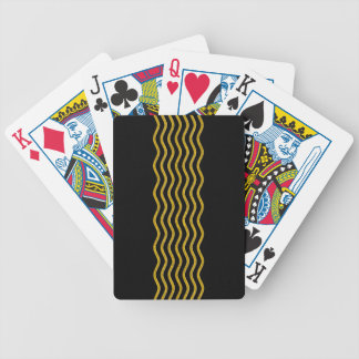 Pretty Waves gold + your backgr., text & ideas Bicycle Playing Cards