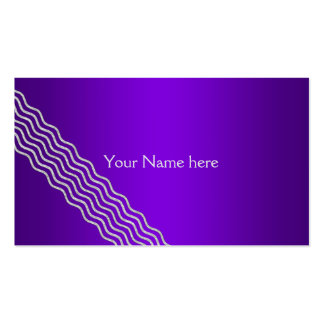 Pretty Waves silver + your backgr., text & ideas Business Card
