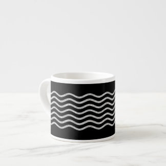Pretty Waves silver + your backgr., text & ideas Espresso Cup