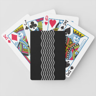 Pretty Waves silver + your backgr., text & ideas Bicycle Playing Cards