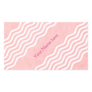 Pretty Waves white + your back & text Business Card