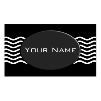 Pretty Waves white + your backgr., text & ideas Business Card