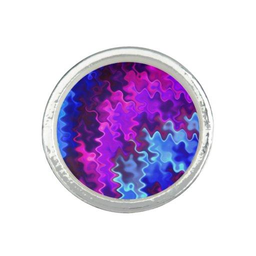 blue and purple wavy - photo #29