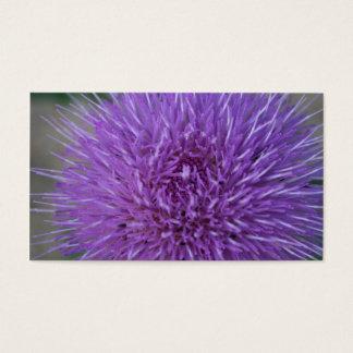 Pretty wayleaf purple thistle flower plant business card