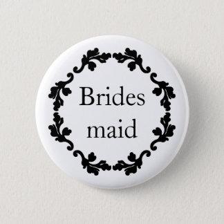 Pretty wedding bridesmaid button