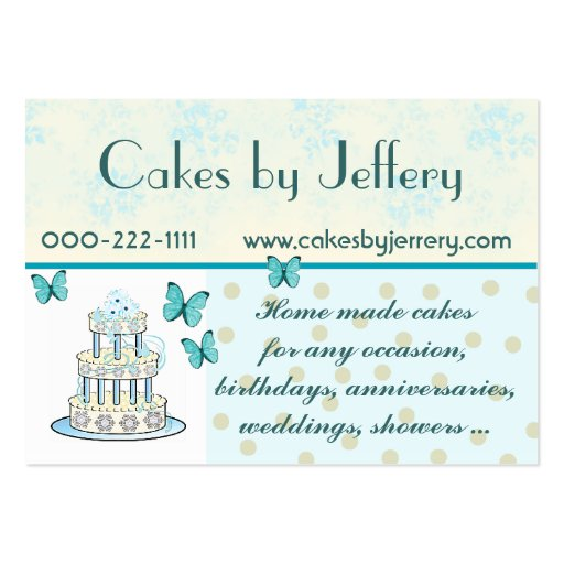 Wedding cake business business card templates page3 bizcardstudio pretty wedding cake bakery business card reheart Choice Image