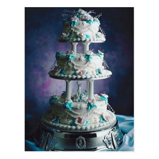 Pretty Wedding Cake Design Post Card