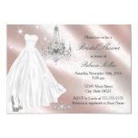 Pretty Wedding Dress Bridal Shower Invite