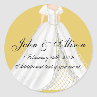 Pretty Wedding Dress D1(b) Wedding Stickers