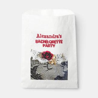 Pretty wedding garter girly bachelorette party favor bag