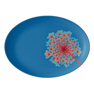 "Pretty Weed Flower 13"" x 9.25"" Porcelain Platter"