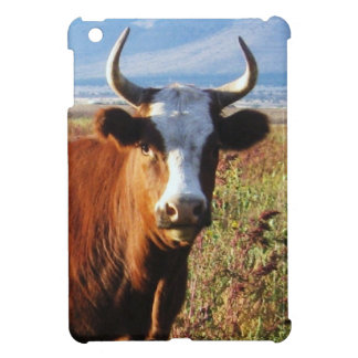 Pretty Western Cow Horns in Late Afternoon Sun Cover For The iPad Mini