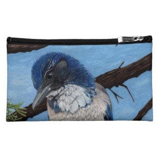 Pretty Western Scrub Jay Bird Makeup Bag