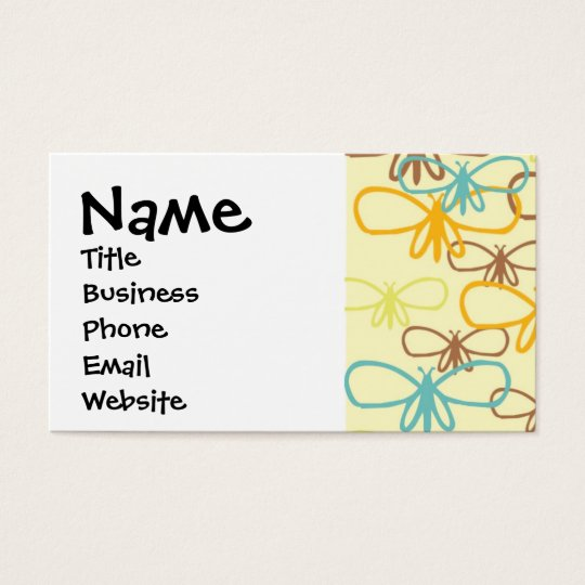 Pretty Whimsical Dragonfly Line Art Butterflies Business Card
