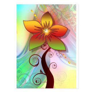 Pretty Whimsical Flower Postcard