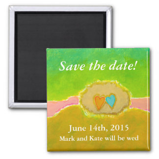Pretty whimsical wedding art Summer Love Protected Magnet