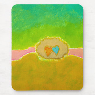 Pretty whimsical wedding art Summer Love Protected Mouse Pad