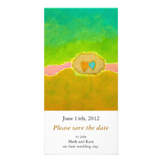 Pretty whimsical wedding art Summer Love Protected Photo Card