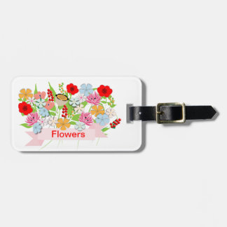Pretty Whimsy Garden Flowers Tag For Luggage