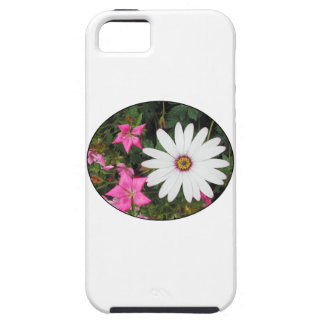 Pretty White and pink flowers. Oval. iPhone SE/5/5s Case