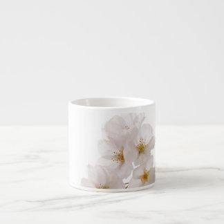 Pretty White Cherry Blossoms Espresso Mug