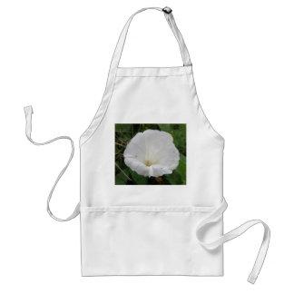 Pretty White Convolvulus Flower Apron