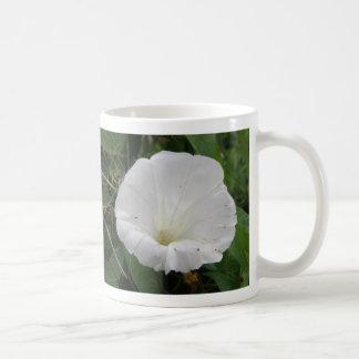 Pretty White Convolvulus Flower Mug