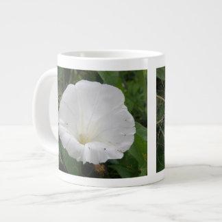 Pretty White Convolvulus Flower Mug Jumbo Mug