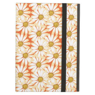 Pretty White Daisies Floral Pattern iPad Covers
