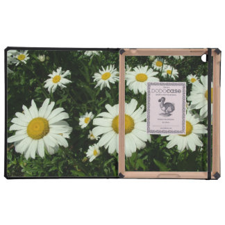 pretty white daisy flowers. iPad cases