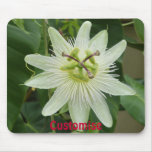 Pretty White Floral Mouse Pad