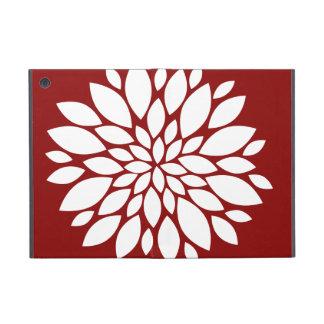 Pretty White Flower Petal Art on Red iPad Mini Case
