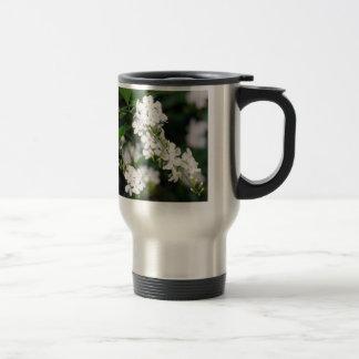 Pretty White Flowers Travel Mug