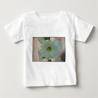 Pretty White Hollyhock Baby T-Shirt