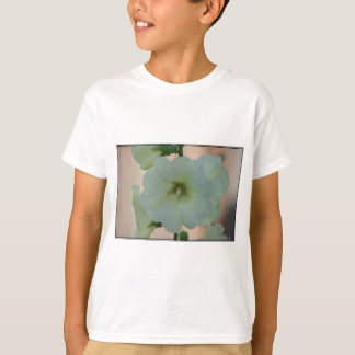 Pretty White Hollyhock T-Shirt