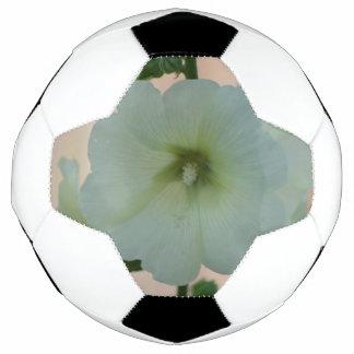 Pretty White Holyhock Soccer Ball