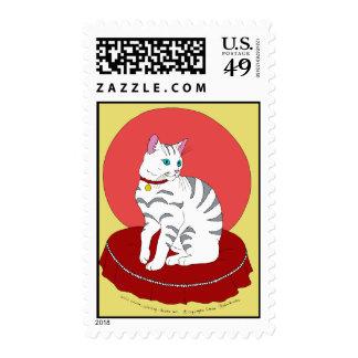 Pretty White Kitty Stamps
