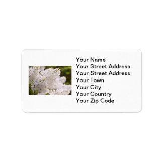 Pretty White Lilacs Photo Address Label