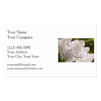 Pretty White Lilacs Photo Double-Sided Standard Business Cards (Pack Of 100)