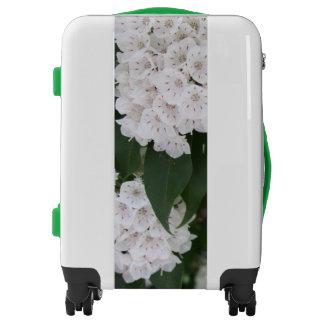 Pretty White Mountain Laurel Floral Luggage
