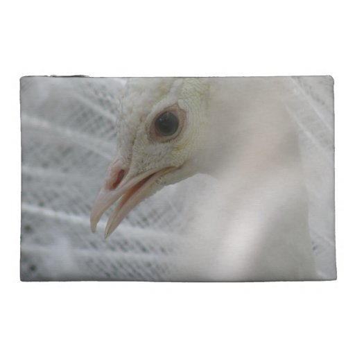 Pretty White Peacock Accessories Bag