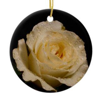 Pretty White Rose Ornaments