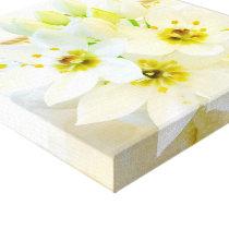 Pretty White Snow Bells Flowers Canvas Print
