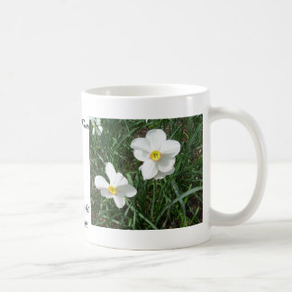 Pretty White Spring Flowers CricketDiane Coffee Mug