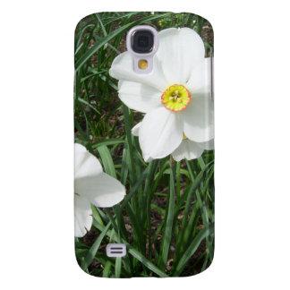 Pretty White Spring Flowers CricketDiane Samsung Galaxy S4 Cover