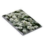 Pretty White Spring Flowers Photo Spiral Notebook